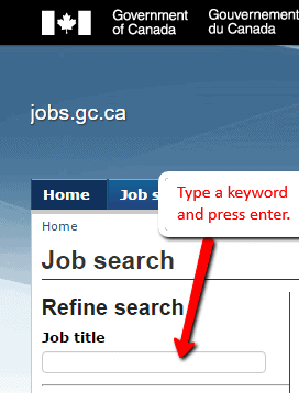 If you know the title of the job you wish to apply for, you can type ...