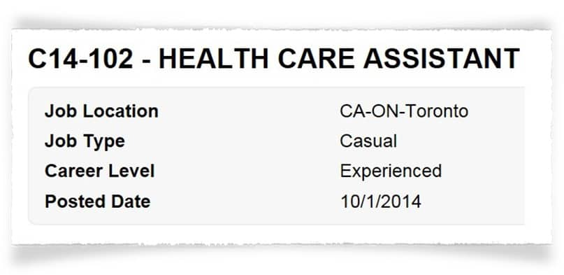 PSW Jobs as Health Care Assistant
