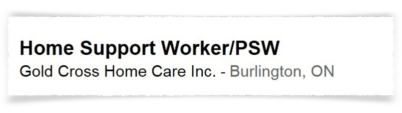 PSW Jobs as Home Support Worker